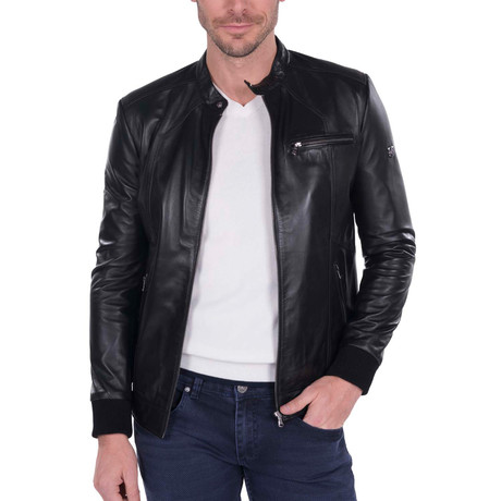 Swing Leather Jacket // Black (S)