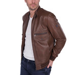 Lob Leather Jacket // Brown (2XL)