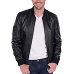 Tolerans Leather Jacket // Black (M)