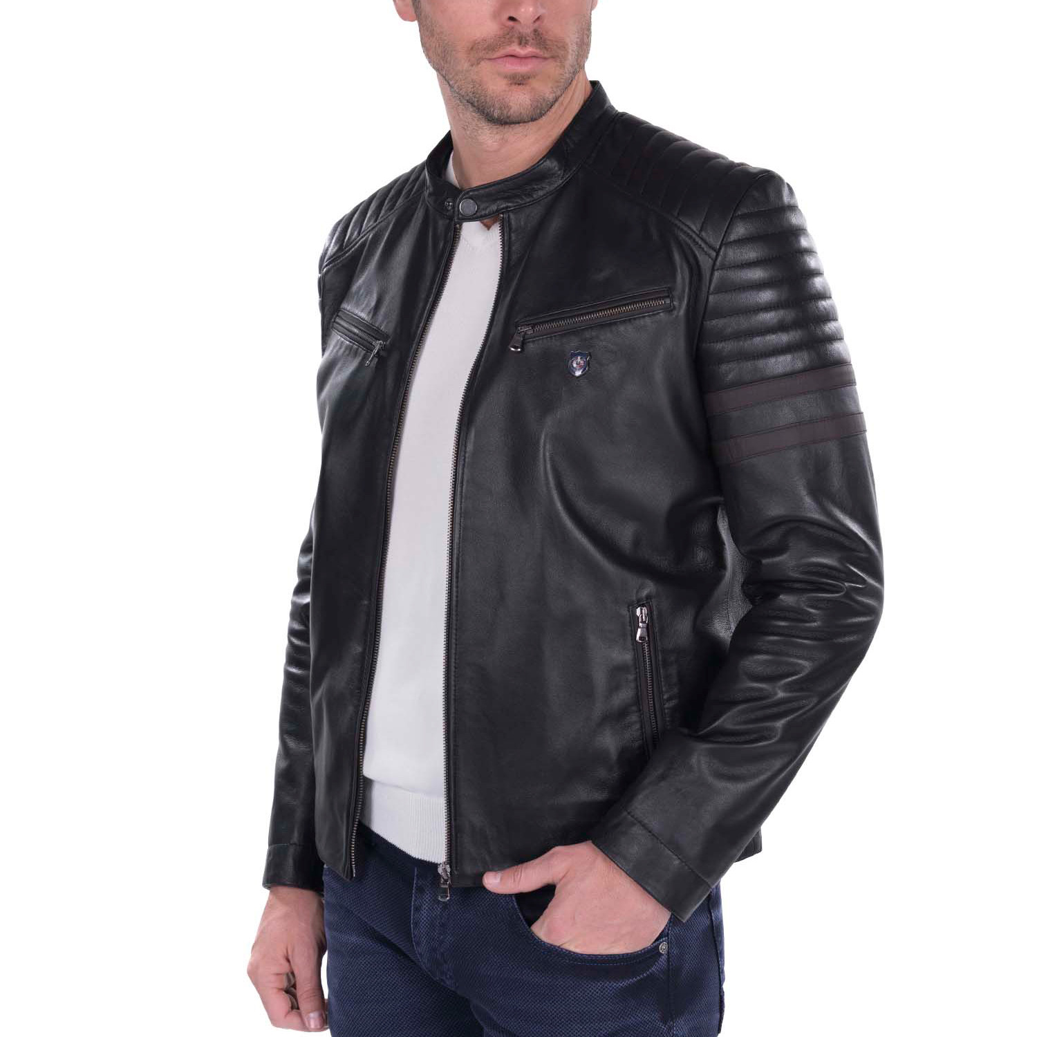 Making a leather jacket