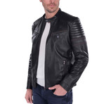 Alignment Leather Jacket // Black (L)