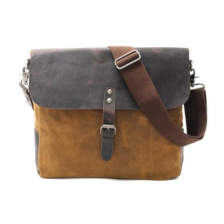 No. 744 Canvas Shoulder Bag (Khaki)