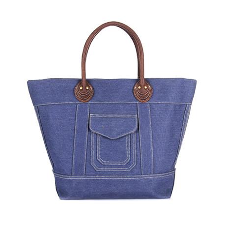 No. 747 Canvas Tote Bag (Blue)