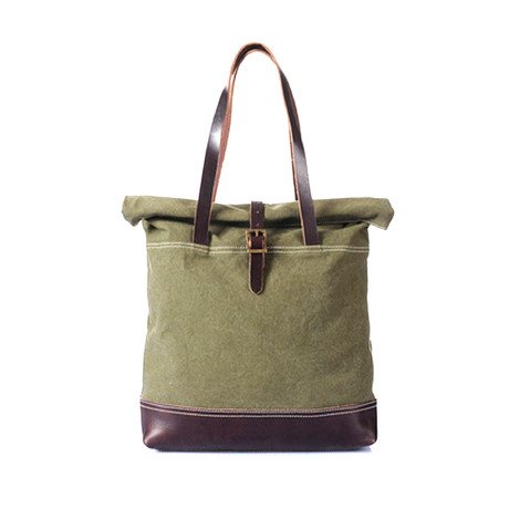 No. 748 Canvas Tote Bag (Army Green)