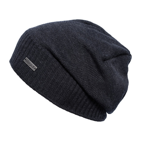 Esteban Wool Blend Beanie // Dark Grey