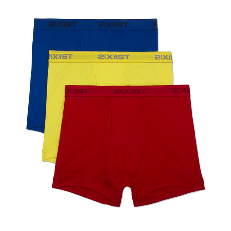 Essential Cotton Boxer Brief // Yellow + Red + Blue // 3-Pack (S)