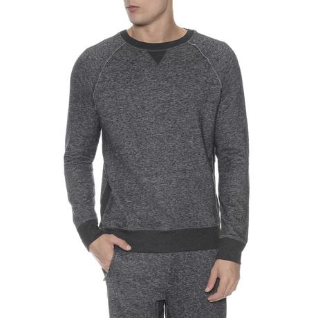 French Terry Crew Neck Sweatshirt // Charcoal Heather (XL)