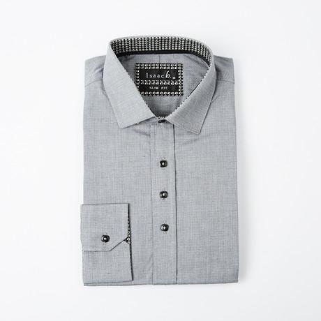 Dobby Button-Up // Black + Gray
