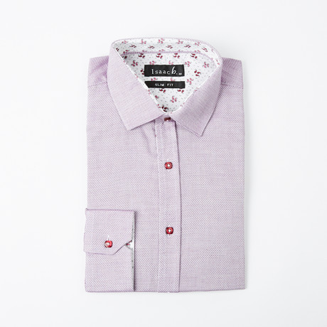 Cluster Cuff Button-Up Shirt // Lavender