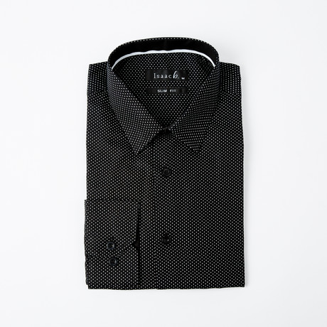 Polkadot Button-Up Shirt // Black