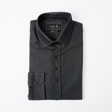 Solid Button-Up // Black + Gray