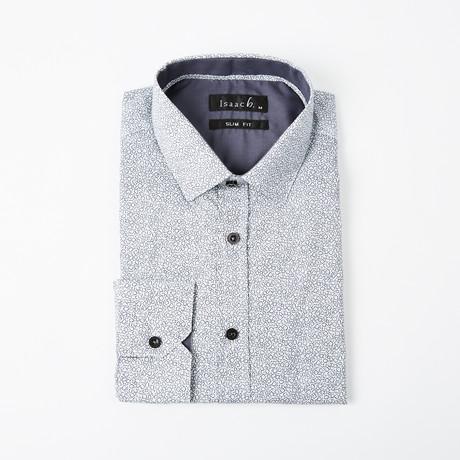 Flower Derivative Button-Up Shirt // Gray (2XL)