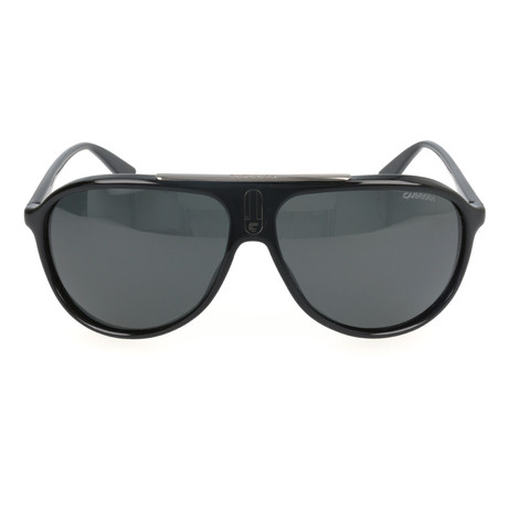 Thick Rim Metal Bridge Aviator // Black