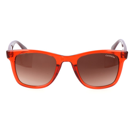 Colorblocked Wayfarer // Orange + Brown