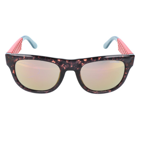 Clear Speckle Thick Rim Wayfarer // Tortoise + Red