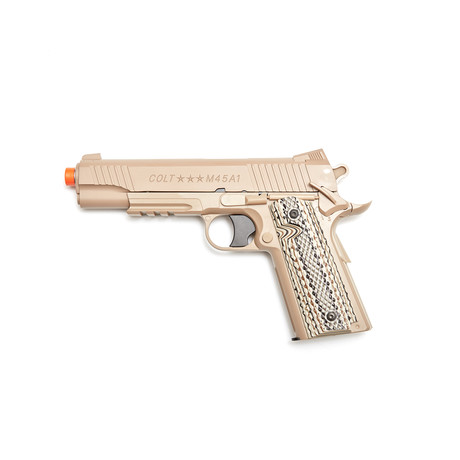 Colt M45A1 Fixed Metal Slide Pistol With 5000 BBs + 5 Pack CO2