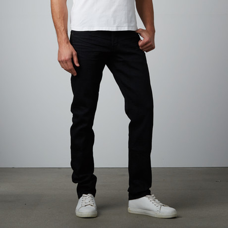 Relaxed Slim Fit Denim // Black Indigo