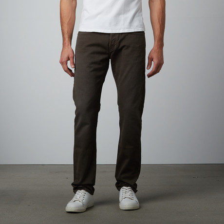Straight Corduroy // Grey Brown
