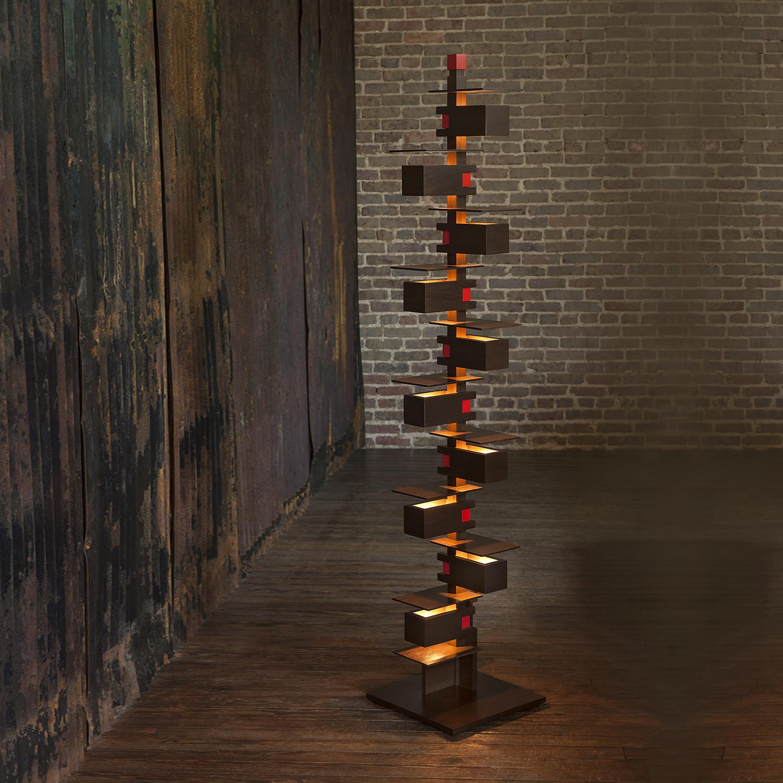 Taliesin 2 // Floor Lamp (Cherry) - Ala Moderna - Touch of Modern