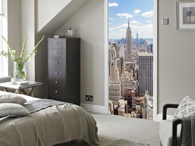 Photo of Walplus High-Impact Wall Murals Manhattan View by Touch Of Modern