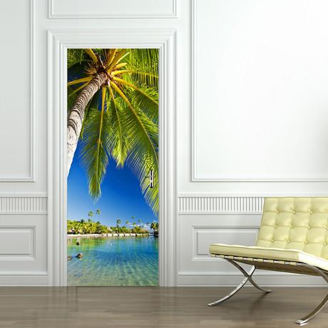 Tropical Island // Door Mural