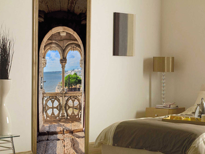 Photo of Walplus High-Impact Wall Murals Island Balcony View by Touch Of Modern