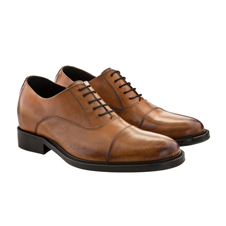 Beverly Hills Cap-Toe Oxford Shoes // Brown (US: 7)
