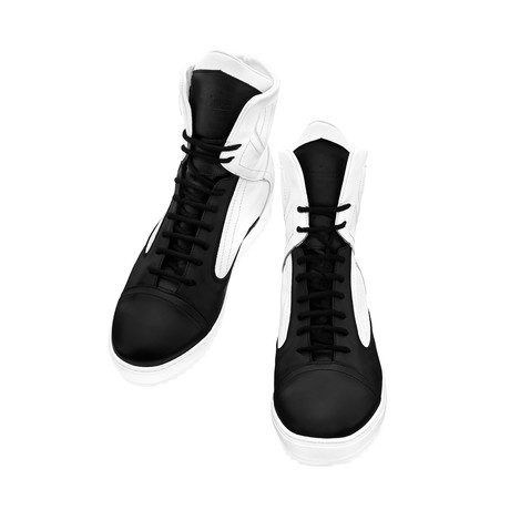 Dope High-Top Sneaker // Black + White