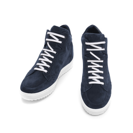 Wyoming Suede High-Top Sneaker // Navy