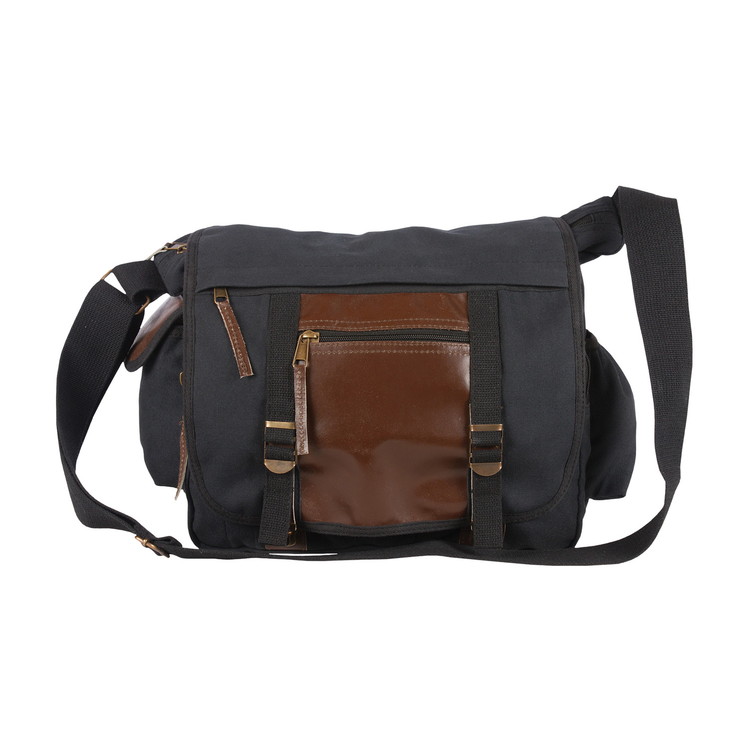 Deluxe Concealed Carry Messenger Bag Black Fox Outdoor