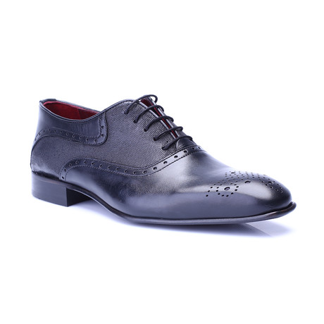 Paden Perforated Brogue Oxford // Black (Euro: 39)