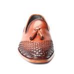 Jackson Woven Toe Tassel Loafer // Tobacco (Euro: 42)