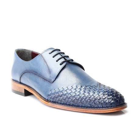 Woven Toe Derby // Dark Blue (Euro: 39)