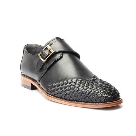 Samuel Woven-Toe Single Monkstrap // Black (Euro: 39)