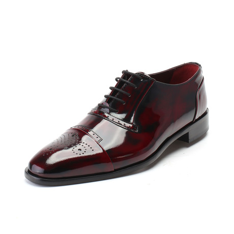 Matthew Patent Perforated Captoe Oxford // Bordeaux (Euro: 39)