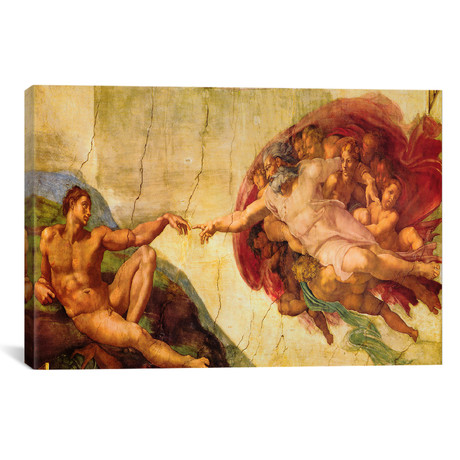 "Creation Of Adam // Michelangelo (18""W x 12""H x 0.75""D)"