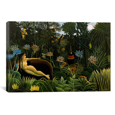 "The Dream // Henri Rousseau // 1910 (26""W x 18""H x 0.75""D)"
