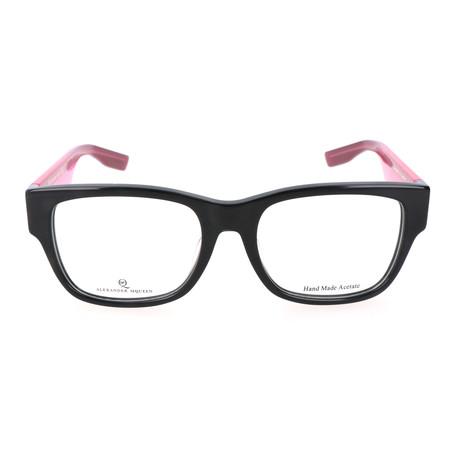 Colorblocked Rectangle Wayfarer // Black + Pink