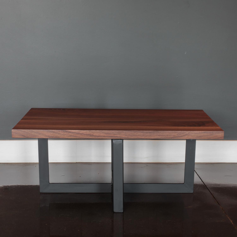 "Black Steel Coffee Table Legs: Coffee Table // Modern Black Walnut + Steel Legs (36""L X"