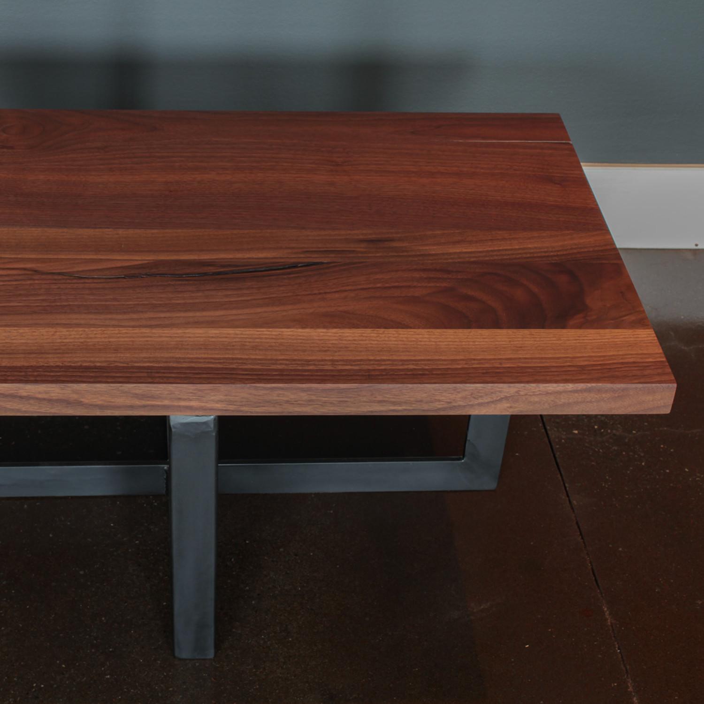"""Coffee Table // Modern Black Walnut + Steel Legs (36""""L X"""