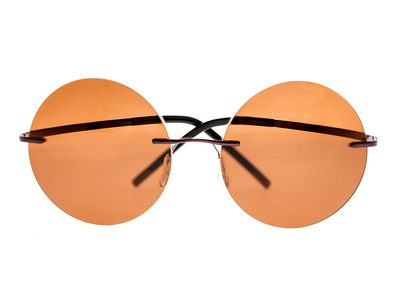 Photo of Simplify Retro-Inspired Sunglasses Christian // Brown Frame + Brown Lens by Touch Of Modern