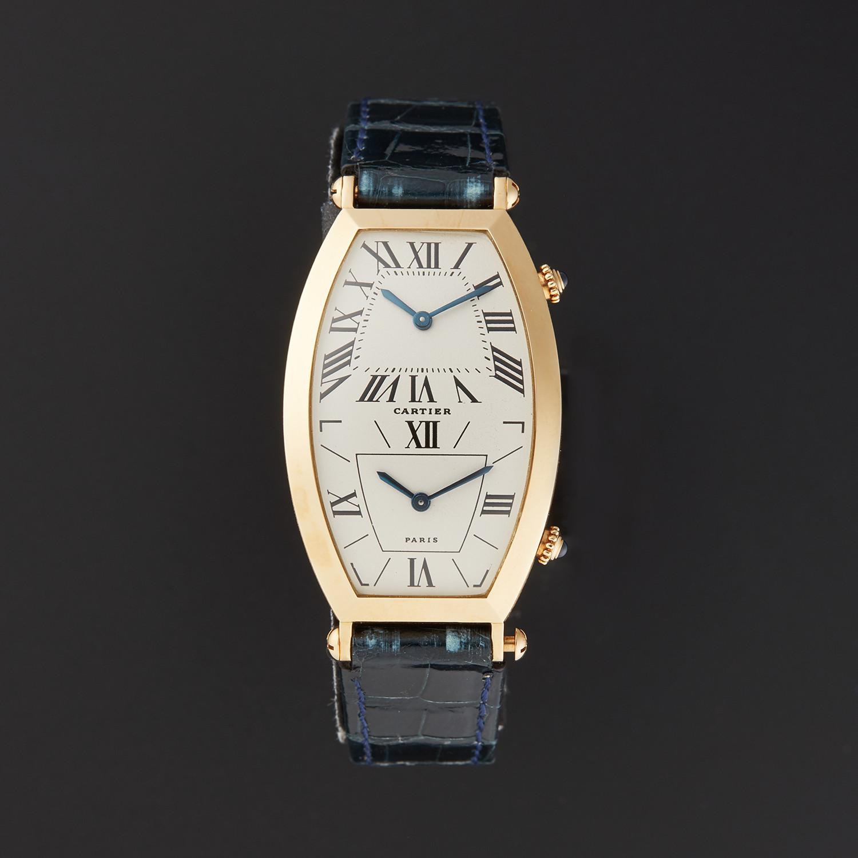 73d305a1b9a Cartier Tonneau Dual Time Zone Quartz    A1404437    Pre-Owned ...