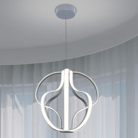 Capella // Globe Chandelier // Silver