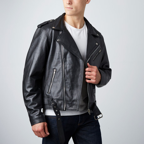 Classic Corben Leather Jacket // Black
