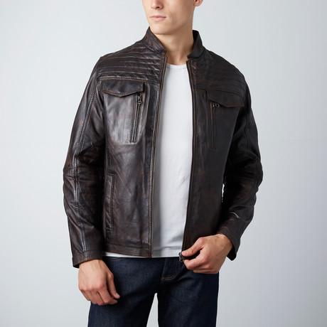Cory Leather Jacket // Coffee
