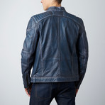Cleveland Moto Jacket // Blue Wash (3XL)