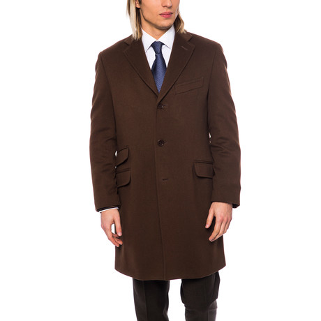 Button-Up Topcoat // Brown