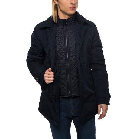 Long Winter Coat // Dark Navy