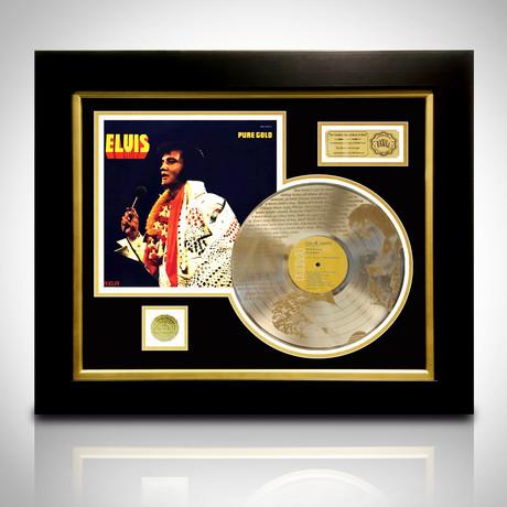 Gold Laser Cut LP / Elvis Presley // Pure Gold