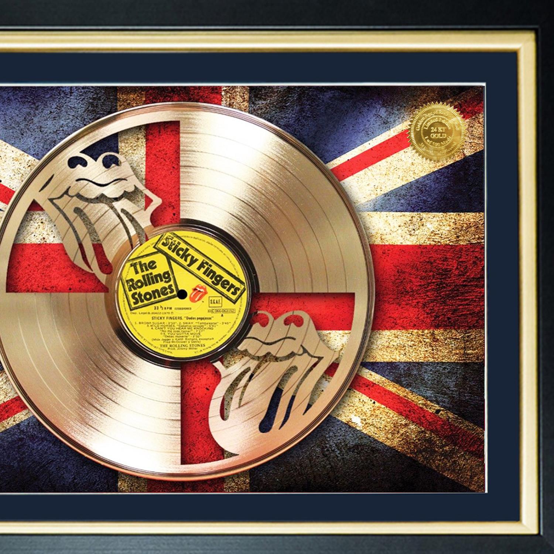 Gold Laser Cut Lp Rolling Stones Sticky Fingers